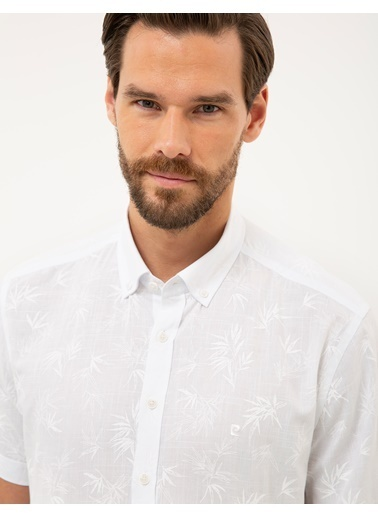 Pierre Cardin Erkek   Gömlek G021GL004.000.1112508.VR013 Beyaz